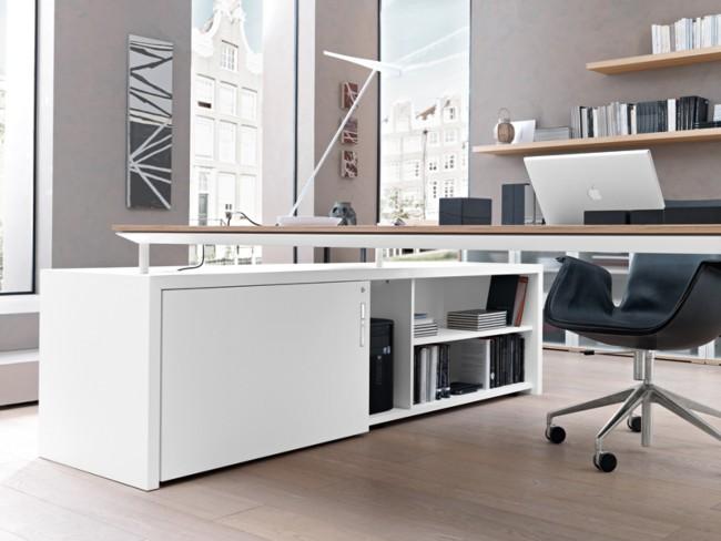 Bureau Blanc Design Stunning Bureau Ordinateur Blanc Laque Bureau